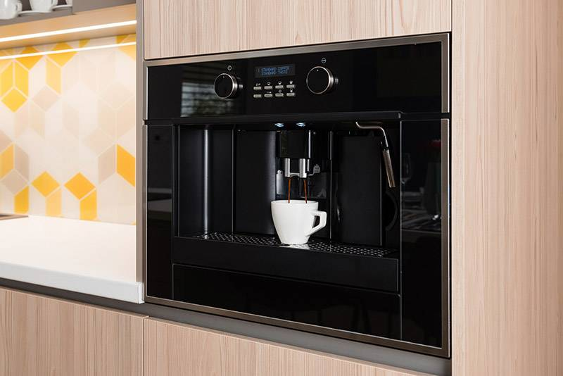 built in coffee machine