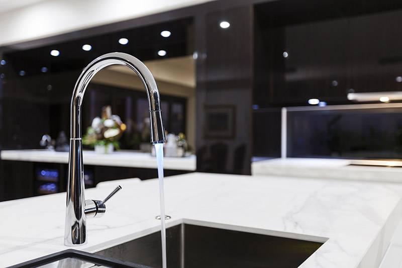 kitchen sink in modern environment