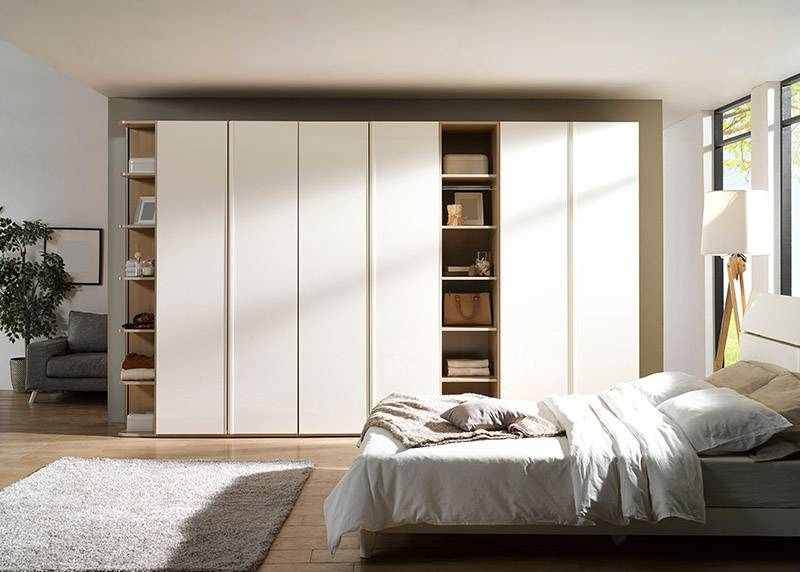 modern wardrobe in a bedroom